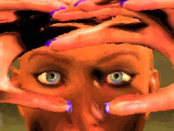 Blaue Augen und violette Nägel von Maurice Dawson