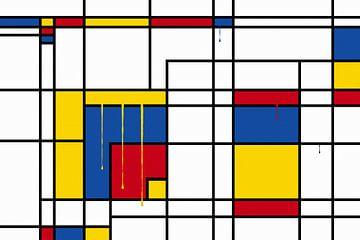 Piet Mondrian gouttes sur Marion Tenbergen