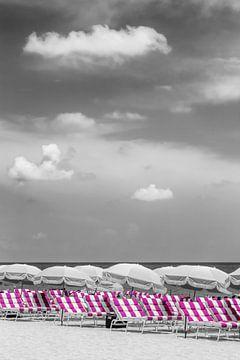 Strandidylle | pink color pop von Melanie Viola