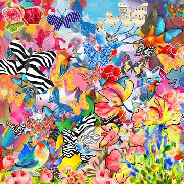 Schmetterlinge, Blumen und Vögel von Nicole Habets