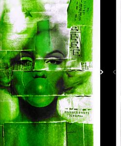 Marilyn Monroe Collage Apple Green - I PAD Generation