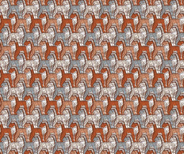 Tiger-Muster von Renée van den Kerkhof