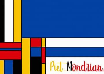 Piet Mondrian avec lettrage sur Marion Tenbergen