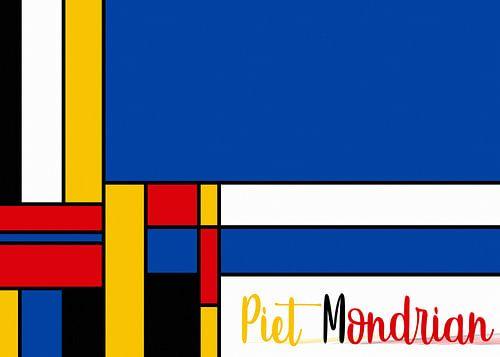 Piet Mondrian mit Schriftzug von