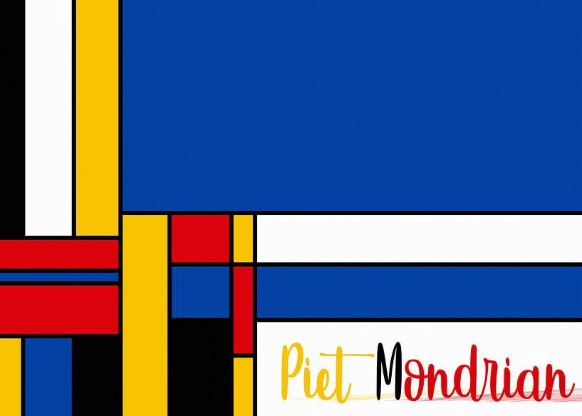 Piet Mondriaan met letters van Marion Tenbergen