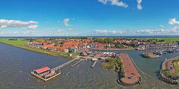 Luftpanorama von Marken am IJsselmeer von Nisangha Masselink