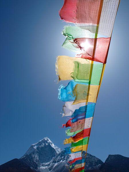 Buddhistische Gebetsfahnen Himalaya von Menno Boermans