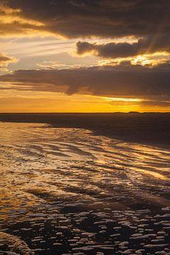 Zonsopgang strand  Schiermonnikoog van