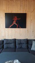 Klantfoto: Vreedzame Krijger van Danny Verhalle, op canvas