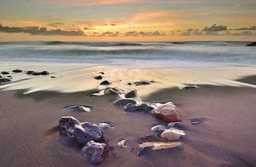 Zonsondergang strand Fuerteventura sur John Leeninga
