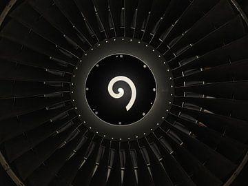 Vliegtuigmotor von Onno Smit