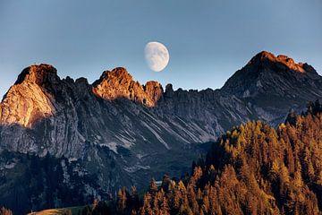 Sonnenuntergang in Bürserberg von Rob Boon