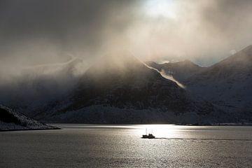 Vissersboot Lofoten van Harry Kolenbrander
