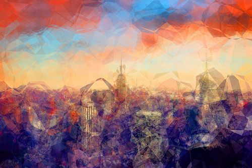 Abstrakte Skyline New York Polygone