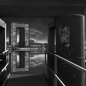 Tasmantoren in zwart wit van Elianne van Turennout