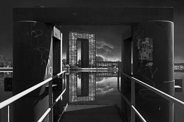 Bureaux à sacs en noir et blanc sur Elianne van Turennout