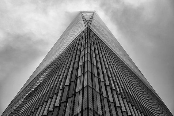 Freedom Tower in de mist
