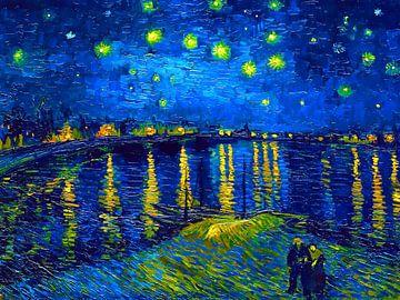 Sternennacht über der Rhone - Vincent van Gogh - 1888 von Jan Willem van Doesburg