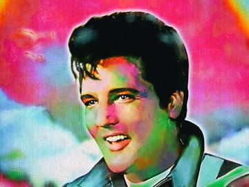 Legenden - Elvis Pop Art von Christine Nöhmeier
