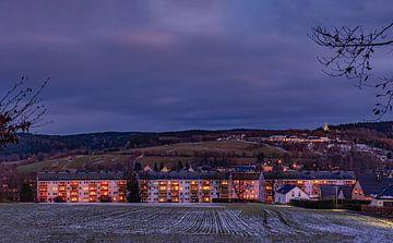 Ehrenfriedersdorf  Erzgebirge zur Weihnachtszeit von Johnny Flash