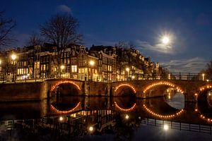 Amsterdam bij maanlicht van Jaco Verpoorte