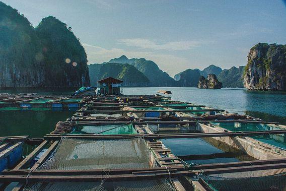 Vissersdorp in Vietnam