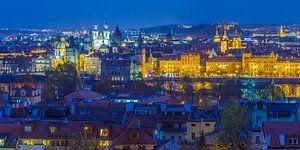Uitzicht over de oude stad in Praag, Tsjechië - 4 van