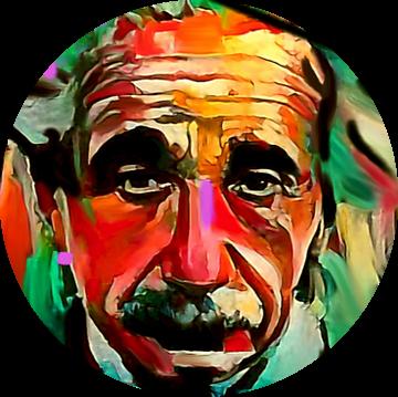 Albert Einstein PUNK Classic Pop Art PUR  van Felix von Altersheim