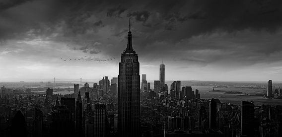 Skyline Empire State Building van Wim Schuurmans