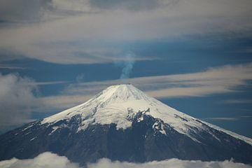 Ansicht des Volcán Villarrica in Chile, in der Nähe von Villarrica und Pucón von A. Hendriks