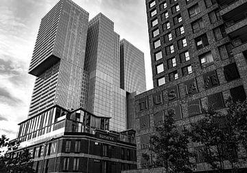 Rotterdam Kopf des Südens schwarz auf weiß von Marjolein van Middelkoop