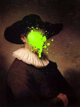 Rembrandt Herman Doomer met groene verf vlek