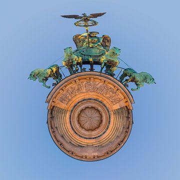 Een Photoshop creatie van de Brandenburger Tor