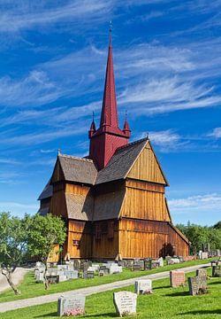 De staafkerk van Ringebu in Noorwegen van Hamperium Photography