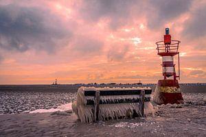 Enkhuizen im Winter an der Waterfront in Nordholland