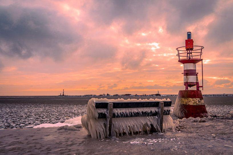 Enkhuizen im Winter an der Waterfront in Nordholland von Evelien van der Horst