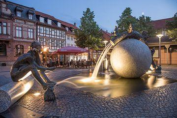 Brunnen auf Nicolaiplatz von Sergej Nickel