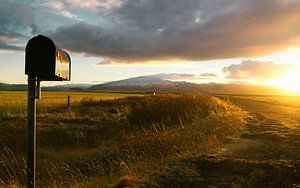 zonsopgang in IJsland