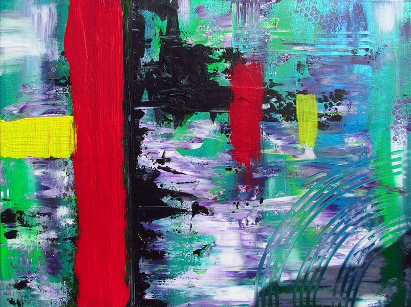 Abstrakte Kunst - Roter Fluss von Patricia Piotrak
