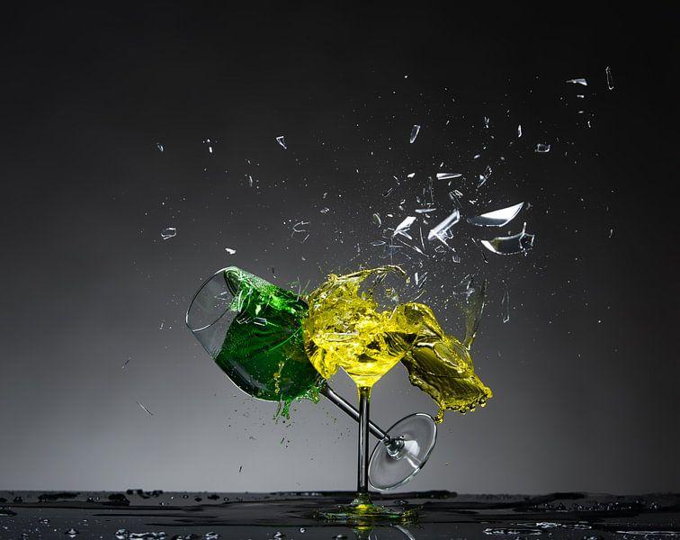 Shattered Glass - Groen op Geel van Alex Hiemstra