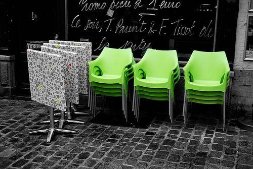 Green chairs van