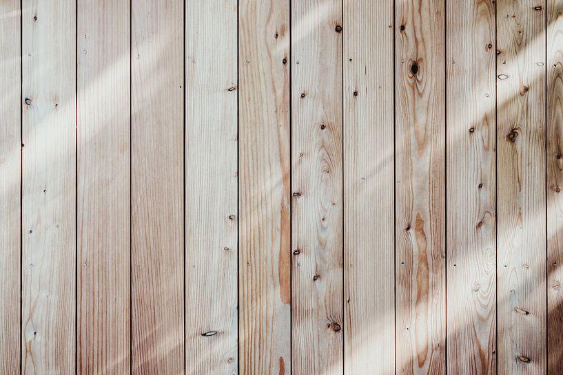 Wonderbaar Vurenhouten planken verticaal op canvas, behang, poster en meer KJ-62