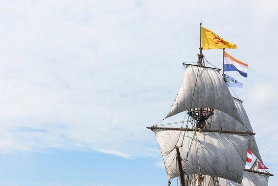 Tall Ship Halve Maen tijdens SAIL AMSTERDAM 2015 van Renzo Gerritsen