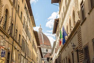 Zicht op de Duomo in Florence van Reis Genie