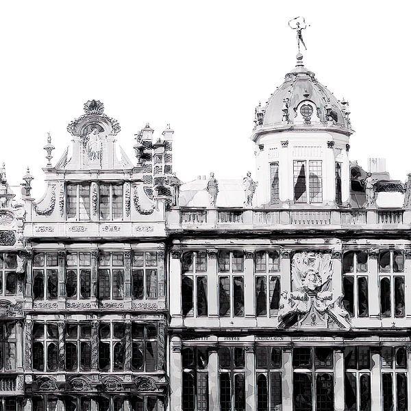 Brüsseler Aquarell-Illustration von David Potter
