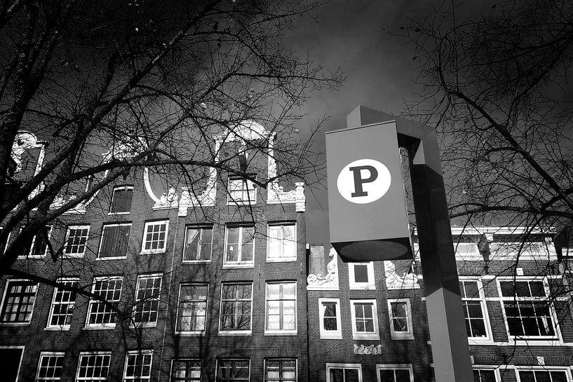 Amsterdam Parking (zwart-wit) van Rob Blok