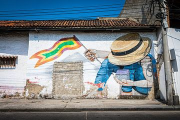Graffiti Kolumbien von Sylvia Fransen