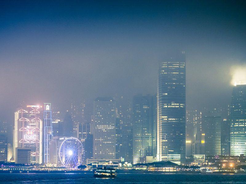 Mistig Hong Kong van Marcel Samson