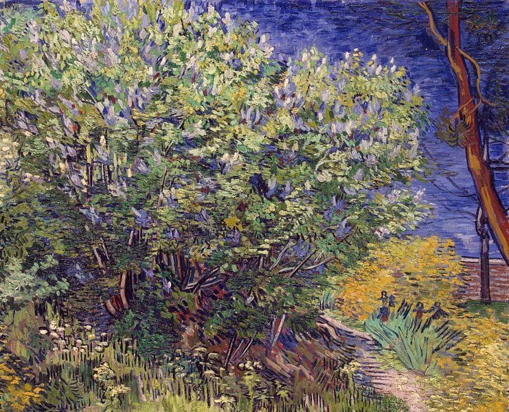 Lilac Bush - Vincent van Gogh  van Marieke de Koning