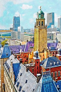 Rathaus Rotterdam von Frans Blok